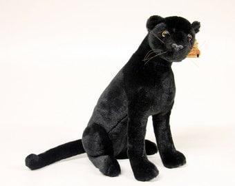 Vintage Black Panther plush beast JoyToy 90 's-Vintage toys-cuddly toy-collecting stuffed animal