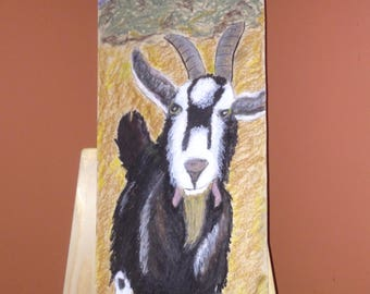 Oil pastel painting ...Hello Mr Goat!