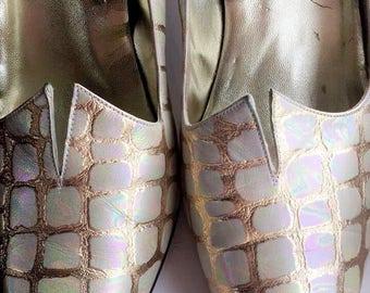 Costa Blanca Rainbow Snake Skin Shoes Size 9.5