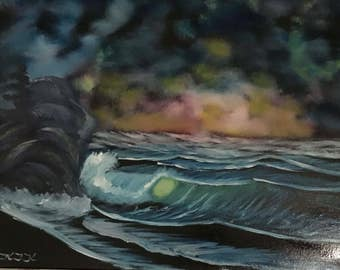 Storm Clouds Seascape Oil Painting for Sale
