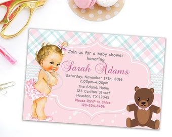 Baby shower invitation printable party invitation new baby invites party printable invites baby shower girl