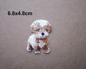 Dog Patch, Cute Dog Patch, Puppy Patch, Embroidered Patch, Animal patch, Iron on patches, Sew on patch, WS-88