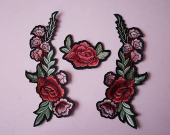 Rose patch, Flowers Patch, Embroidered Patch, Embroidered patches, Iron on patches, Sew on patch, WS-193
