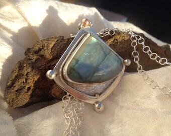 Labradorite beautiful mounted in Silver 925