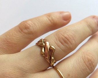 Antique Rose and Yellow Gold Ring Size N