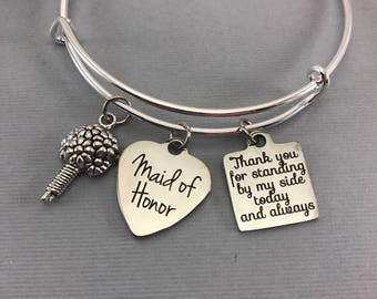 Maid of Honor Gift - Wedding Party - Maid of Honor Bracelet Gift - Wedding Party Gifts - Maid of Honor - Personalized Jewelry - Bridesmaid