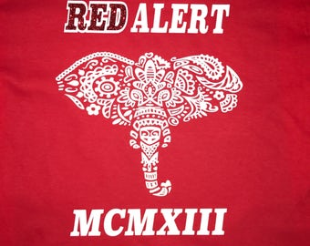 Red Alert T-shirt. Elephant T-shirt. Sorority Inspired Shirt.