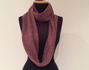 Crushed Grape Infinity Scarf, 174cm full loop