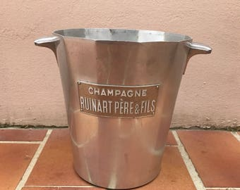 Vintage French Champagne Ice Bucket RUINART Cooler Made in France 26041713
