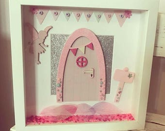 Personalised Fairy Door Frame, Personalised Gift, Fairies, Girls Wall Decor, Gift For Little Girl, Childrens Gift.