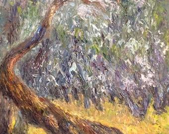 Old tree - Oil Painting-Original Art