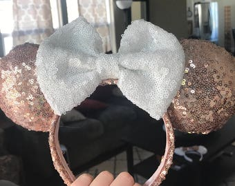 Rose Gold and White Ears