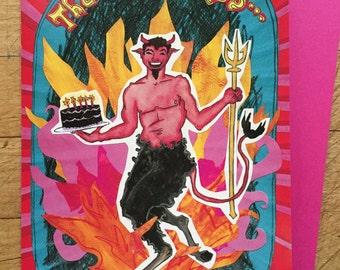 Devil Birthday Card