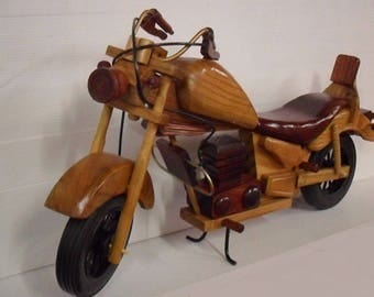 New motorcycle designed handmade wooden 50 cm of length 20 ""