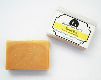 Honey Bee - Beeswax and Honey Soap, Handmade Soap, Natural Soap, Cold Process Soap, Honey Soap, CP Soap, Palm Free Soap, Handcrafted Soap