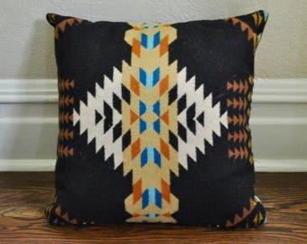 Wool Bohemian/Southwestern Print Throw Pillow