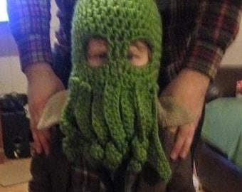 Monster Ski Mask Crochet Hat for Kids or Adults  -- Handmade