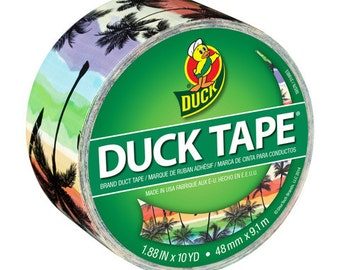 Duck® Tape,  Printed Crafting Tape, Adhesive  Tape  - Sunset Strip - 1.88 in x 10 yds