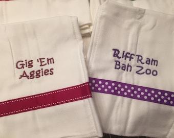 College Baby Burp Cloth