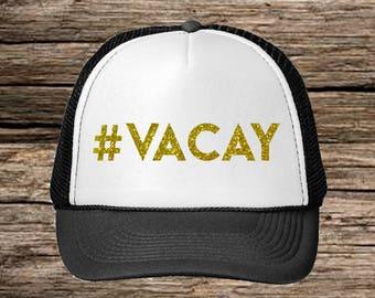 Vacay Hat- #Vacay Hat- Summer Trucker Hat- Trucker Hat- Beach Hat- Vacation Hats- Summer Hat-Trucker Hats for Women-Vacation Hats-Cute Hats