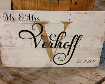 Large Custom Name Sign