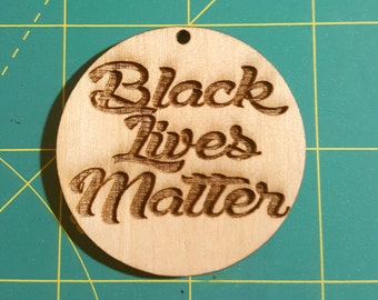 Engraved Black Lives Earrings 25 Colors to Choose From