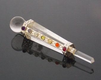 Crystal Wand, Crystal Healing Wand, 7 chakra healing wand, healing crystals, Chakra Healing, Aura Cleansing