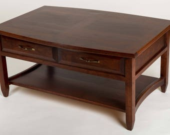 Curved Top Solid Cherry Coffee Table