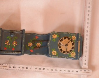 Vintage Echternach souvenir miniature wall clock grand father clock