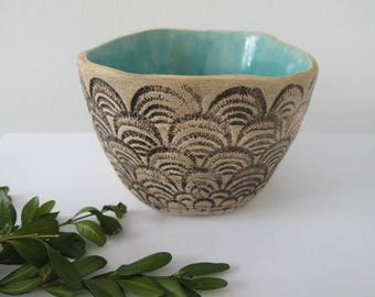 ceramic small bowl, home decoration modern, ceramic bowl, handmade pottery, turquoise bowl, decorative bowl, cup for jewellery, blue bowl