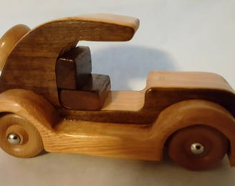 Wooden Toy Antique Car