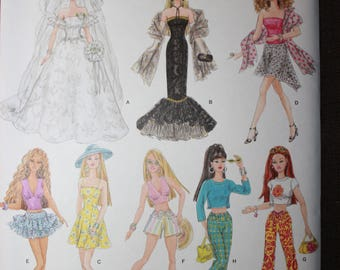 Simplicity 4719  11 1/2in Barbie Fashion Doll Clothes
