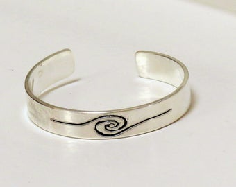 Aawa spiral silver ring
