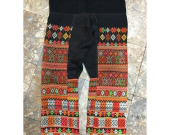 Vintage tribal Man trousers embroidered in the north of Vietnam