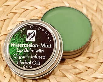 Watermelon Mint / Moisturizing / Soft Healthy Lips / Gluten Free / SOOOO YUMMY / Healthy Calendula / Organic!
