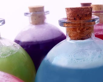 Make your OWN BUBBLY POTION / Refills available / Organic / Best Unique & Personal Gift / Pick any Color and Scent!