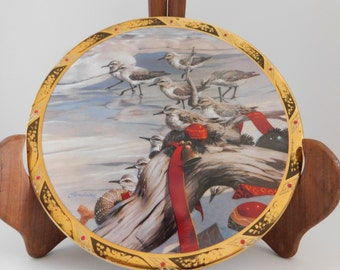 "Collector Plate, Twelve Days of Christmas ""Eleven Pipers Piping"" Christmas Plate, Eleven (Sand) Pipers Piping, Sand Piper Plate, Christmas"