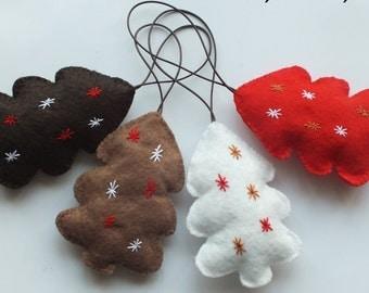 Felt Puffy Christmas Ornaments Holidays Ornaments Felt Christmas Tree Ornament Felt Christmas Ornament  Holidays Ornaments Tree Ornaments