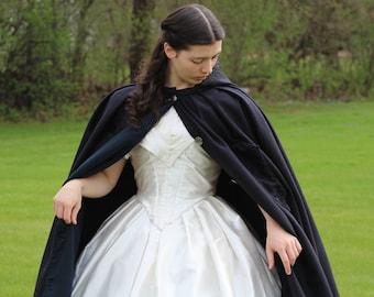 Civil War 3/4 length hooded wool cloak