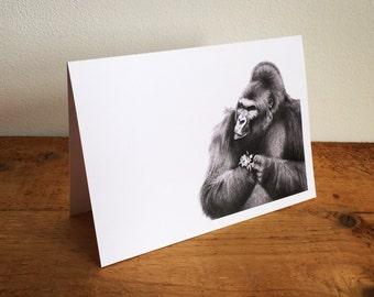 Gorilla Greetings Card