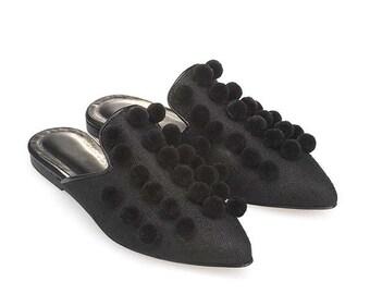 Sabina-Women Leather Mules