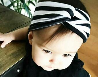 Striped baby headband/ baby turband twist headband/ toddler headband/ newborn headband/ baby girl headband/