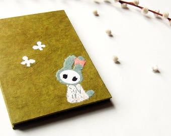 """Accordion Photo Album """"Bunny"""" olive"""