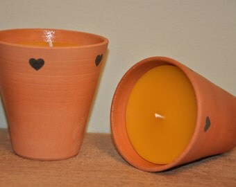 100% Pure Beeswax Candle Flower Pot
