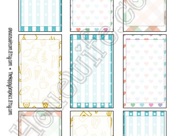 Happy Planner stickers [94] , Full box, A5 PDF, Instant download