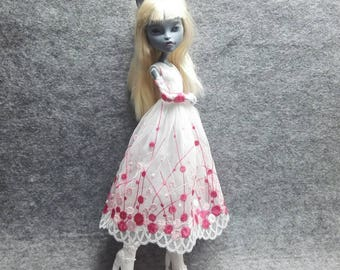 ooak dress outfit  for monster high dolls monsterhigh(the  pink one)