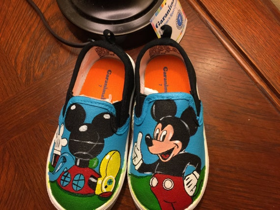mickey mouse clubhouse canvas shoes by ashleescustoms on etsy