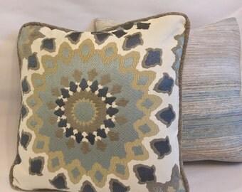 Marais English GardenDecorative Custom Toss Pillow Sofa pillow Throw Pillow  Nate Berkus designer fabric Reversible 18x18 cover