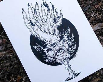 Goblet Hand Print