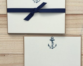 Nautical Anchor Flat Note Cards